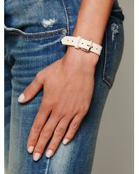 Free People   White Feather Print Leather Watch   Lyst