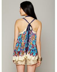 Free People White Fp One Living Large Floral Tank
