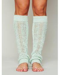 Free People Green Open Stitch Leg Warmer
