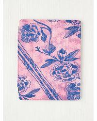 Free People Pink Printed Ipad Cover