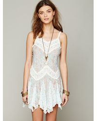 Free People Green In and Out Ditsy Florals Slip