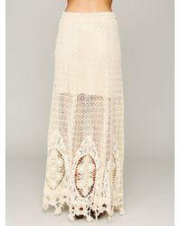 Free People Natural Mi Amore Maxi Skirt