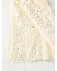 Free People White Pieced Lace Scarf