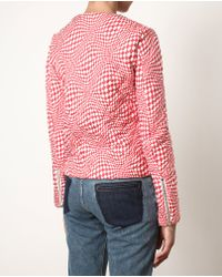 J.W. Anderson | Red Quilted Silk Sweater | Lyst