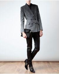 Rag & Bone Black Flecked Zigzag Cottonblend Blazer
