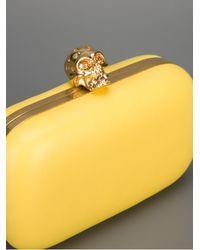 Alexander McQueen Yellow Classic Skull Clutch