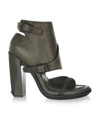 Alexander Wang - Green Suvi Ankle-cuff Leather Sandals - Lyst