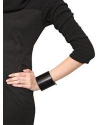 Ann Demeulemeester | Black Leather Cuff Bracelet | Lyst