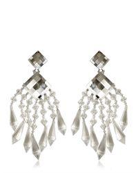 Balmain | Multicolor Crystal Drop Earrings | Lyst