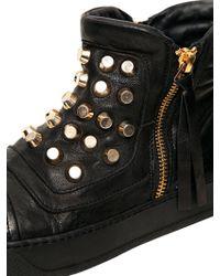 BB Bruno Bordese Black Studded Calfskin Sneakers