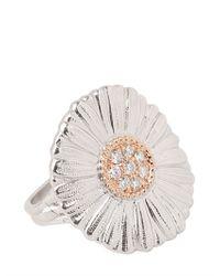Buccellati | White Diamond Daisy Ring | Lyst