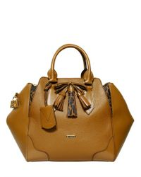 Burberry Brown Ablett Animalier Grained Leather Bag