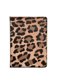 Burberry Prorsum Multicolor Leopard Printed Ponyskin Mini Ipad Case for men