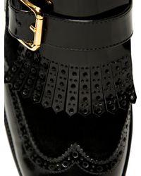 Dolce & Gabbana Black 20mm Velvet Patent Fringed Monk