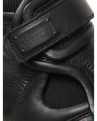 Dolce & Gabbana Black Nappa Leather High Top Sneakers for men