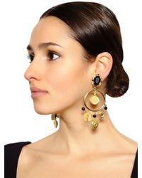 Dolce & Gabbana | Black Clip Drop Earrings | Lyst