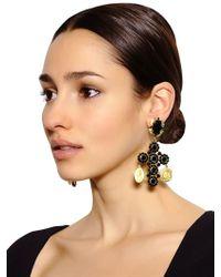 Dolce & Gabbana - Black Cross Clip Earrings - Lyst