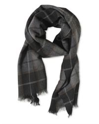 Dolce & Gabbana - Gray Plaid Cashmere Scarf for Men - Lyst