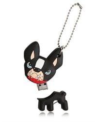 DSquared² Black Rubber Dog Memory Key for men