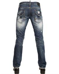 DSquared² Blue 185cm Thorn Wash Slim Fit Denim Jeans for men