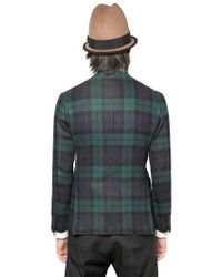 DSquared² Green Black Watch Wool 3 Buttons for men