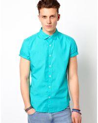 Esprit Blue Short Sleeve Shirt for men