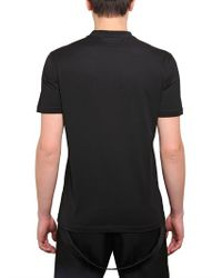 Givenchy Black Cuban Fit Printed Jersey Tshirt for men