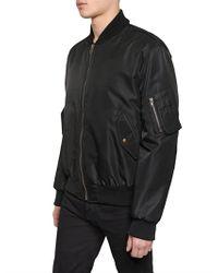 Givenchy Black Doberman Printed Nylon Bomber Jacket for men