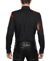 Givenchy Black Doberman Printed Poplin Slim Fit Shirt for men