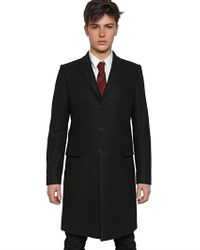 Givenchy Black Wool Cloth Coat with Doberman Lining for men