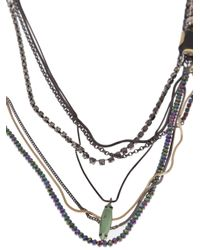 Iosselliani - Multicolor Multi Strand Long Necklace - Lyst