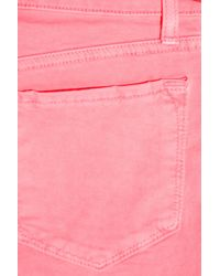 J Brand Pink 811 Mid-rise Cropped Skinny Jeans