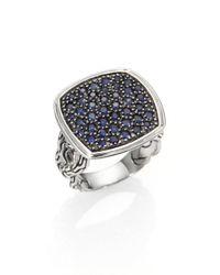John Hardy | Metallic Sapphire Sterling Silver Ring | Lyst