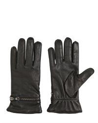 John Varvatos Black Nappa Leather Gloves for men