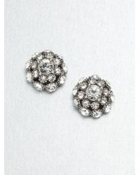 kate spade new york | Metallic Putting On The Ritz Stud Earrings/silvertone | Lyst