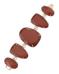 Kendra Scott | Metallic Fivestation Epoxy Bracelet Goldstone | Lyst