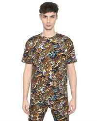 KENZO Multicolor Tiger Print Tshirt for men