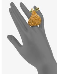 Marc By Marc Jacobs - Metallic Anniversary Pavé Pear Ring - Lyst