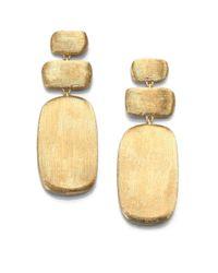 Marco Bicego Metallic Murano 18k Yellow Gold Rectangle Triple-drop Earrings