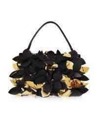 Marni Black Appliquéd Suede Bag