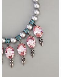 Mawi - Metallic Pearl Necklace - Lyst