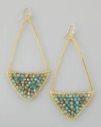 Nakamol | Metallic Beaded Kite Hoop Earrings | Lyst