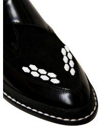 Pollini Black 20mm Brushed Calfskin Suede Monk Shoes