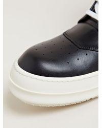 Rick Owens Black Mens Geobasket Sneakers for men