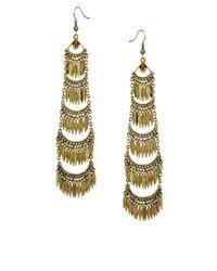 River Island - Metallic Tiered Chandelier Earrings - Lyst