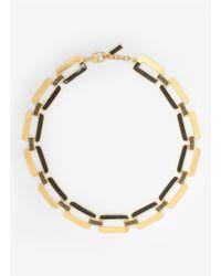 St. John | Metallic Crystal-embellished Necklace | Lyst