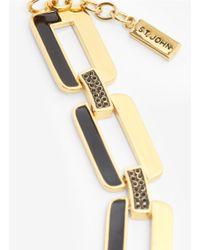 St. John - Metallic Crystal-embellished Necklace - Lyst