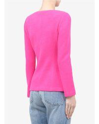 St. John Pink Piqué Knit Jacket