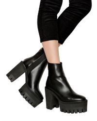 Stella McCartney Black Ecoleather Combat Boots