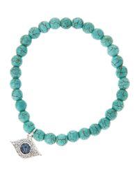 Tai | Green Turquoise Evil Eye Bracelet | Lyst